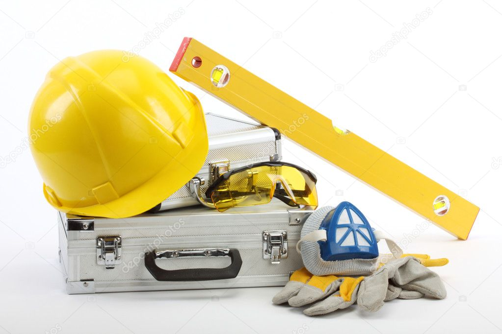 Safety gear kit close up — Stock Photo #4128655