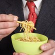 Bowl of soup  noodles — Stock Photo