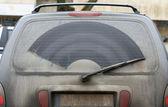 Finestra posteriore sporco — Foto Stock