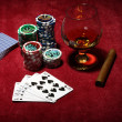 Playing poker concept — Stock Photo