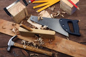 Carpenter's tools — Zdjęcie stockowe