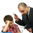 Stock Photo: Schoolboy and teacher