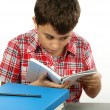 Stock Photo: Boy reading book