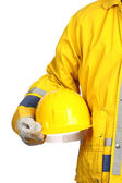 Worker with yellow helmet — Stock Photo
