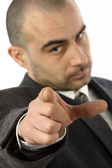 Businessman pointing — Stock Photo
