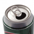 Stock Photo: Top of an open drink can.