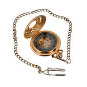 Gold pocket watch. — Stock Photo