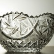 Crystal glass bowl — Stock Photo
