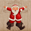 Vitruvian Santa Claus - Stock Photo