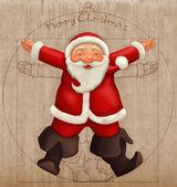 Vitruvian Santa Claus — Stock Photo