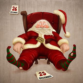 Tired Santa Claus — Stockfoto