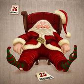 Trött jultomten — Stockfoto