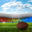 Rugby penalty kick - Stock Photo