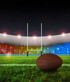Rugby penalty kick - Night — Stock Photo