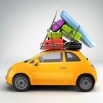auto připraveno pro cestování — Stock fotografie