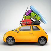 Car ready for travel — Stockfoto