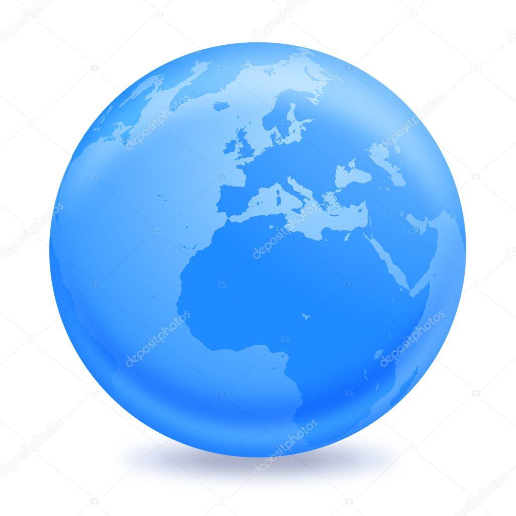 蓝色地球地球矢量设计插画— 矢量图片作者 jordygraph