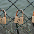Love locks in Paris — Stockfoto