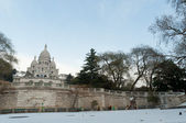 Sacred heart under snow — Stock Photo