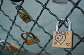 Love locks in Paris — Stock Photo