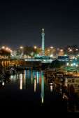 Bastille by night - Paris — Stock Photo
