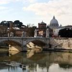 Ponte Vittorio Emanuele II, Rome, Italy — Stock Photo #4520468