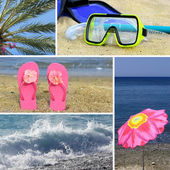 Resort collage5 - beach — Stock Photo