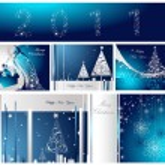 Wesołych Świąt i szczęśliwego nowego roku kolekcja — Wektor stockowy