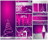 Merry Christmas and Happy New Year collection — Stock Vector