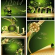 Vector de stock : Merry Christmas and Happy New Year collection