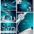 Stock Vector: Merry Christmas and Happy New Year collection