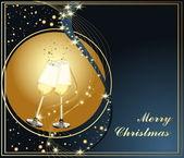 メリー クリスマスの背景 — ストックベクタ