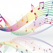 Background with music notes — Vector de stock