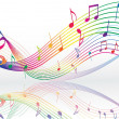 Vector de stock : Background with music notes