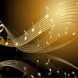 Background with music notes — Image vectorielle