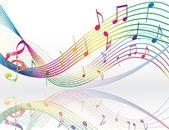 Sfondo con note musicali — Vettoriale Stock