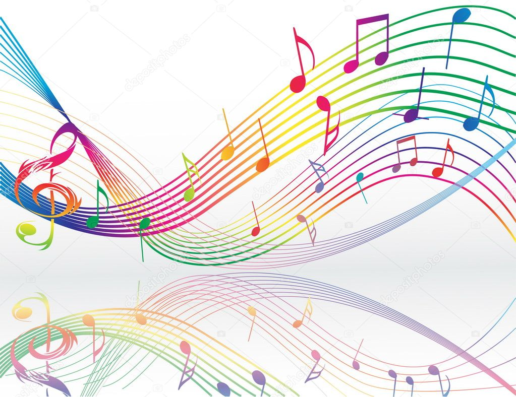 Background with music notes — Stock Vector #4668093