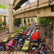 Thailand Bangkok Street Scene with Heavy Traffic Congestion — Stock Photo