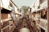 Bangkok, thajsko, non dopravní boční ulice — Stock fotografie