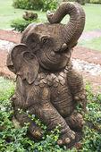 Statue of Asian elephant — Stock Photo