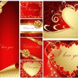 Collection of Valentine — Vector de stock