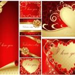 samling av valentine — Stockvektor