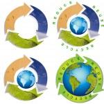 Clean environment - conceptual recycling symbol — Stock Photo