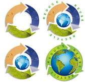 Clean environment - conceptual recycling symbol — Stock Photo