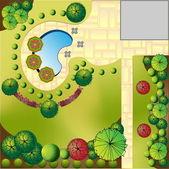 Landschap plan — Stockvector
