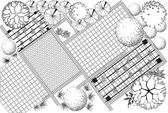 Plan d'aménagement paysager — Vecteur