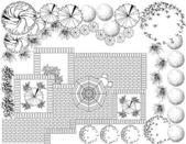 Peyzaj planı — Stok Vektör