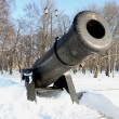 Midday gun in Kronstadt — Stock Photo