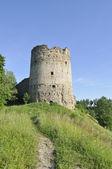 Torre de naugolnaja. uma fortaleza de kopore. — Fotografia Stock