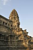 At walls of Angkor Wat. — Stock Photo